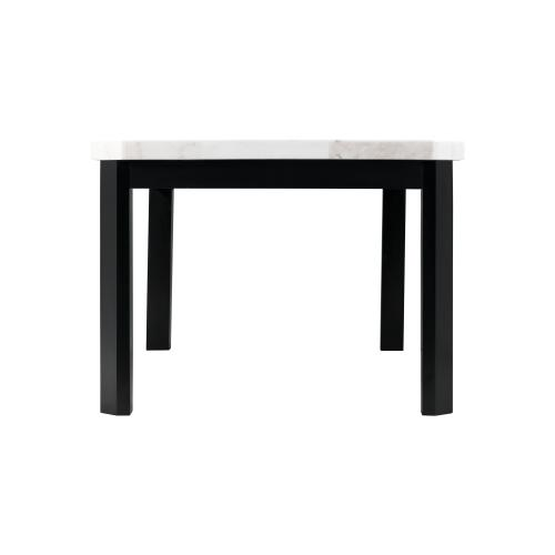 Francesca White Marble Standard Height Dining Table