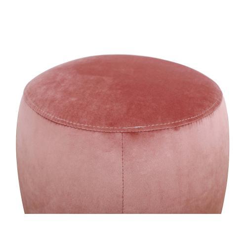 Tov Furniture - Willow Salmon Velvet Ottoman