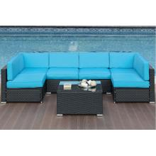 Outdoor 7 Piece Patio Modular Sectional