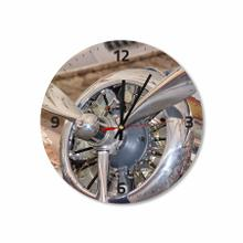 Airplane Motor Round Acrylic Wall Clock