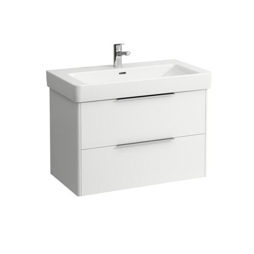 Traffic Grey Vanity unit, 2 drawers, incl. drawer organizer, matching washbasin 813965