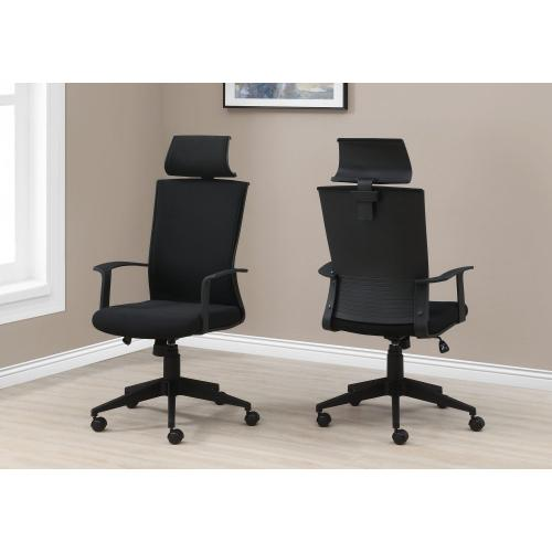 Gallery - OFFICE CHAIR - BLACK / BLACK FABRIC / HIGH BACK EXECUTIVE