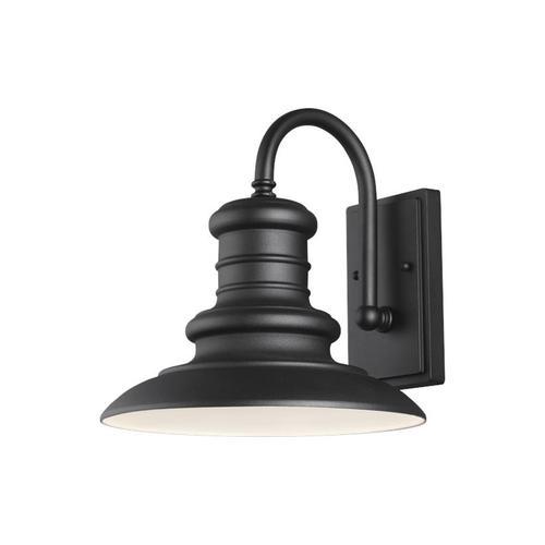 Feiss - Redding Station Medium Lantern Wildlife Friendly Textured Black Bulbs Inc