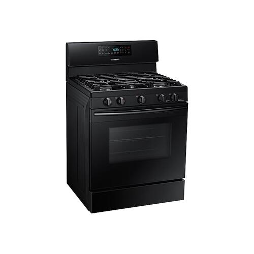 5.8 cu. ft. Freestanding Gas Range with Convection in Black