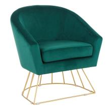 Canary Tub Chair - Gold Metal, Emerald Green Velvet
