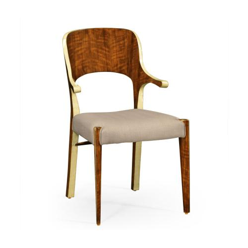 Hyedua and Celadon Armchair, Upholstered in MAZO