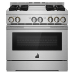 Jenn-AirJenn-Air 36&quot RISE Gas Professional-Style Range with Chrome-Infused Griddle