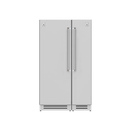 "Hestan - 48"" Column Refrigerator (L) and Freezer ® Ensemble Refrigeration Suite - Steeletto"