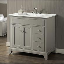"See Details - Smithfield 36"" Vanity Drawer-right - Medium Gray"