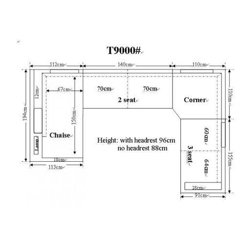Divani Casa T9000 - Modern Leather Sectional Sofa