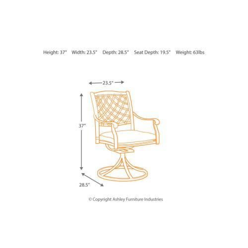 Gallery - Tanglevale Swivel Chair w/Cushion
