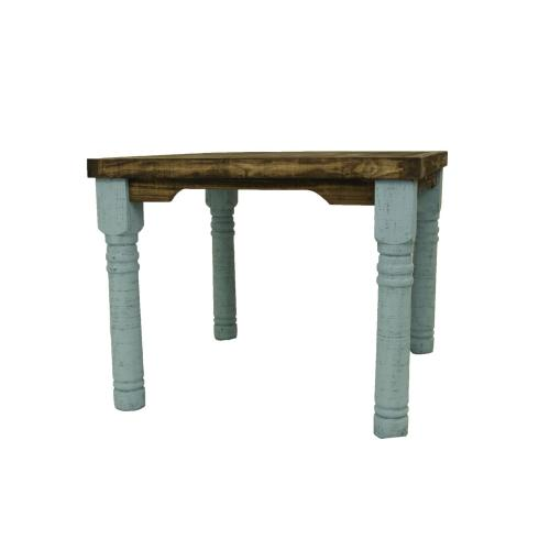 "4'X4' Turquoise Table W/36"" Legs"