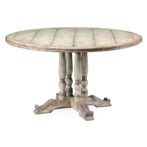 """54"""" French round country dining table"""