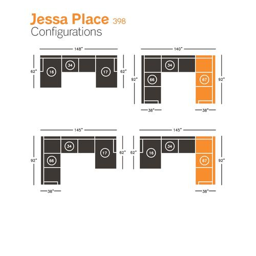 Jessa Place Right-arm Facing Sofa