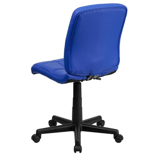 Gallery - Mid-Back Blue Quilted Vinyl Swivel Task Office Chair
