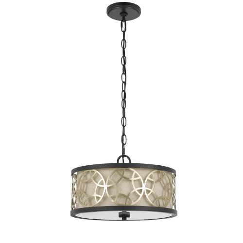 60W X 2 Carmel 2 Light Metal 2 in 1 Semi-Flush / Pendant Chandelier