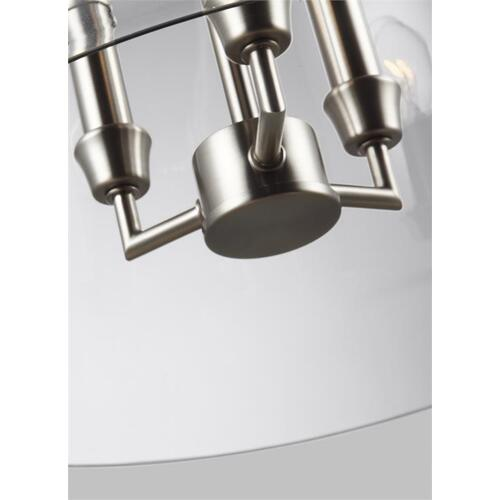 Lawler Bell Pendant Satin Nickel