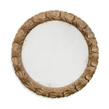 Wrenbury Round Gilded Vintage Oak Mirror