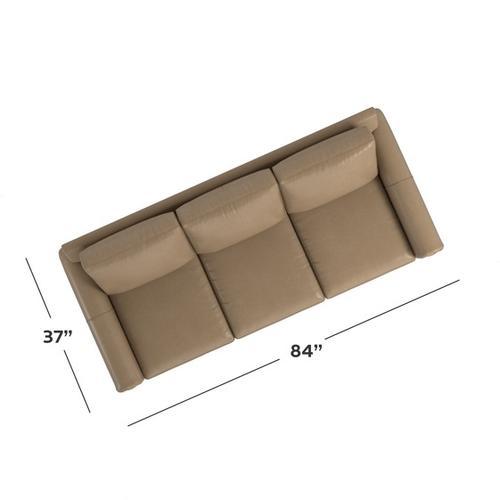 Bassett Furniture - Carolina Leather Panel Arm Sofa