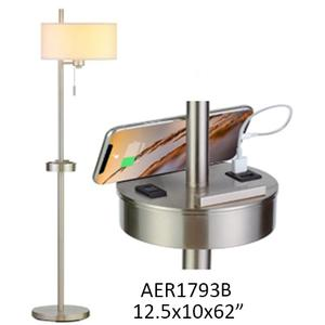 """Crestview Collections - 62""""H FLOOR LAMP WITH USB & OUTLET"""