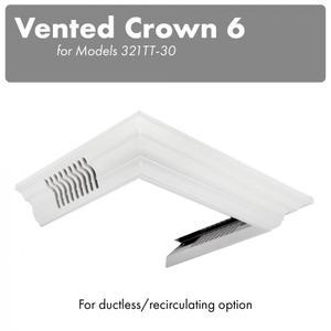 ZLINE Vented Crown Molding Profile 6 For Wall Mount Range Hood (CM6V-300T) -