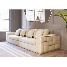 Divani Casa Mobray - Glam Beige and Gold Fabric Sofa