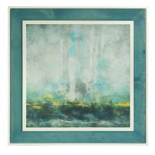 See Details - Hibberd Aqua Blue Textured Print Custom Framed