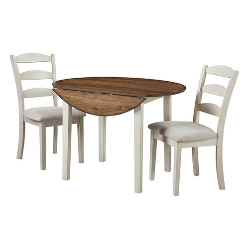Murphy 3-pc Dining Set With Tobacco Top and Cream Base