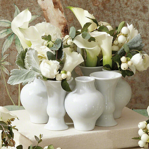 Chinoise Bud Wreath-White Crackle