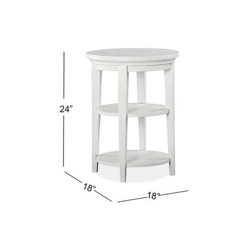 Magnussen Home - Round Accent End Table