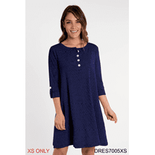 See Details - Pinstripe Henley Dress - XS (2 pc. ppk.)