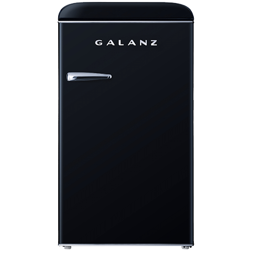 Galanz 3.5 Cu Ft Retro Single Door Refrigerator in Vinyl Black