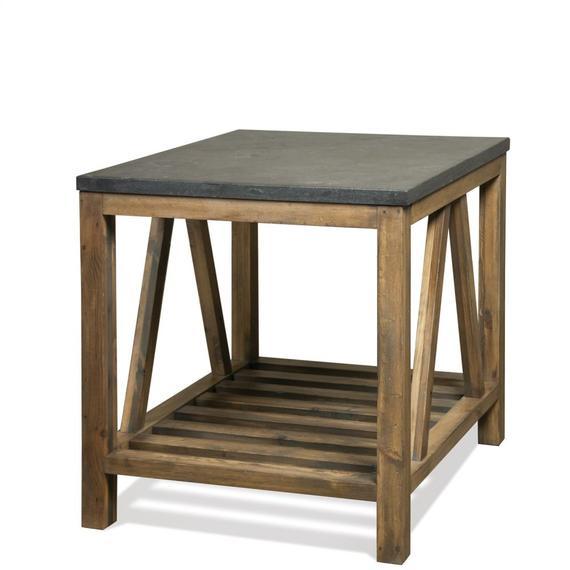 Riverside - Weatherford - Rectangular Side Table Top - Bluestone Finish