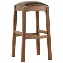 Bar Stool, Cherry Backless Stool