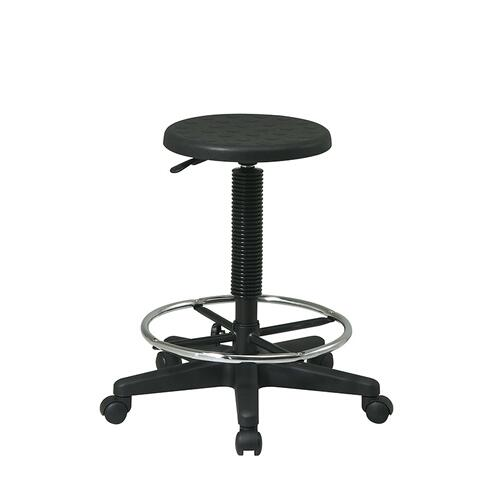 Stool With Adjustable Footrest