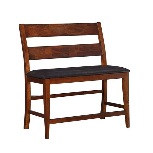 Fairwood Upholstered Gathering Height Bench, Rustic Brown 1279-436-ben