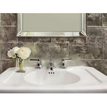 Sink Faucet, Low Spout, Lever Handles - Nickel Silver