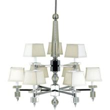 AF Lighting 6761 9-Light Chandelier- Cream Shades, 6761-9H