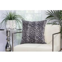 """Outdoor Pillows As524 Black 20"""" X 20"""" Throw Pillow"""