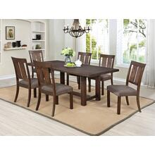 7802 7PC Wire Brushed Dining Room SET