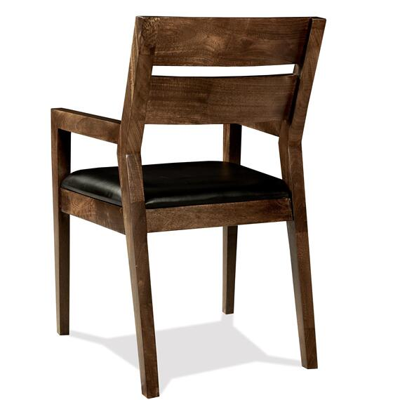 Riverside - Mix-n-match Chairs - Slat Back Upholstered Arm Chair - Hazelnut Finish