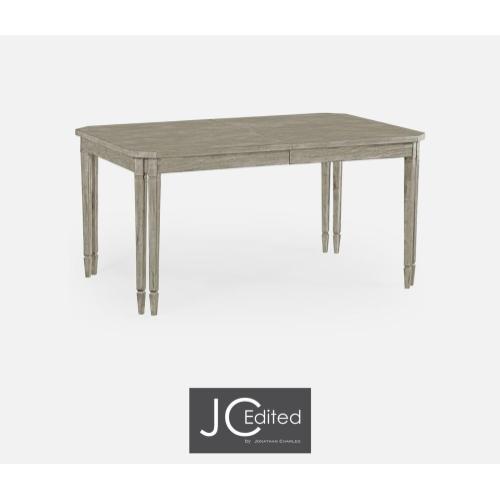 Rectangular dining table in rustic grey