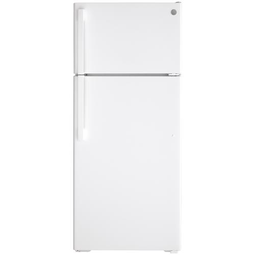 GE Energy Star® 17.5 Cu. Ft. Top-Freezer Refrigerator White - GTE18DTNRWW