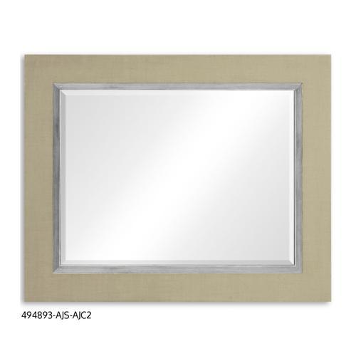 """Homespun"" mirror (Blanc/Silver)"