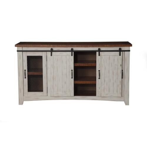 Taos - Antique White barn door solid pine - Antique White