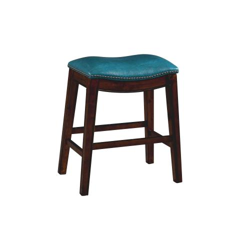 """Gallery - Fiesta 24"""" Backless Counter Height Stool in Blue"""
