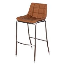 LIGHT TUFTS  20in w X 41in ht X 22in d  Ochre Bar Stools with Stainless Steel Legs