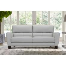 """See Details - Kester 81"""" Square Arm Dove Grey Genuine Leather Sofa"""
