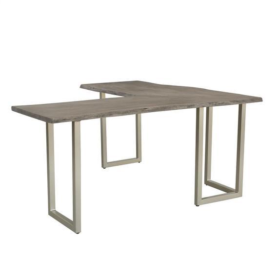 Riverside - Waverly - L Desk Base - Sandblasted Gray Finish