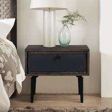 View Product - Cross Solid Oak and Metal Nightstand